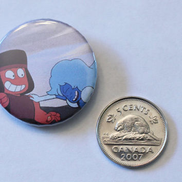 "Ruby and Sapphire laughing 1.25"" button"