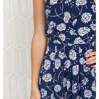 Feeling The Love playsuit in navy floral