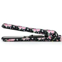 """Envy Professional 1.25"""" Ceramic Ionic Flat Iron Hair Straightener Fast Heating Time Includes Professional Comb and Heat Resistant Travel Case Worldwide Dual Voltage 110v - 220v (Roses)"""