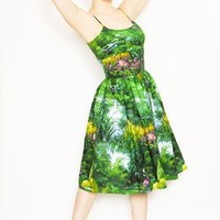 *Sold Out!* 50s Style Bernie Dexter Blaize Pin Up Swing Dress in Landscape