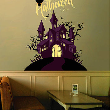 kcik1643 Full Color Wall decal greeting halloween coffee shop showcase
