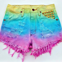 Made To Order Colorful Dip Dyed Gradient by WildHeartsApparel