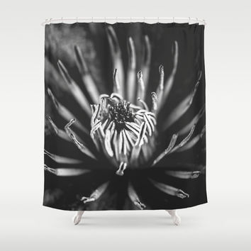 Flower universe - BW Shower Curtain by HappyMelvin Protanopia