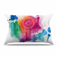 "KESS Original ""Dream In Color"" Rainbow Watercolor Pillow Sham"