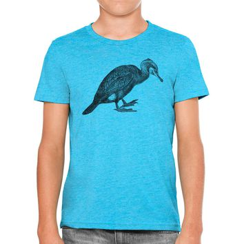 Austin Ink Apparel Vintage Shag Bird Drawing Unisex Kids Vintage Printed T-Shirt