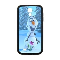 Custom Frozen 2013 Disney Cartoon Lovely Snowman Olaf Hard Case for SamSung Galaxy S4 I9500 (Laser Technology)