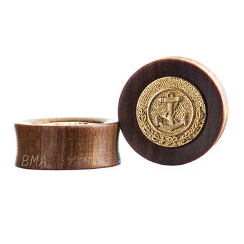 Gold Anchor Special Edition Granadillo Wood Plugs (28.5mm-32mm)