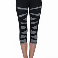 Black and Gray Weave Pocket Activewear Bottom