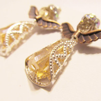 Crystal Angel Earrings -