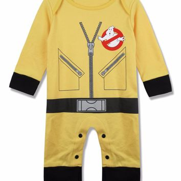 Baby Boy Ghostbusters Costume Romper Jumpsuit Long Sleeve