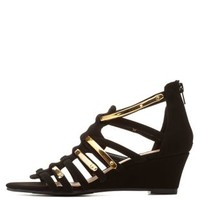 Qupid Strappy Wedge Sandals by Charlotte Russe