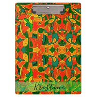 Color Jungle Red Inspiration Clipboard