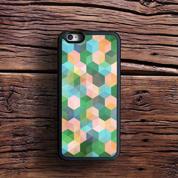 Child's Play - hexagon pattern in mint green, pink, peach & aqua Case iPhone 6s Plus, iPhone 6 case, iPhone 5s 5C 4s Case, Samsung Case, iPod case, iPad Case, HTC Case, Nexus Case, LG case, Xperia case