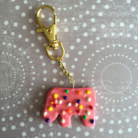 Animal Cracker Themed Planner Charm / Keychain (Polymer Clay)