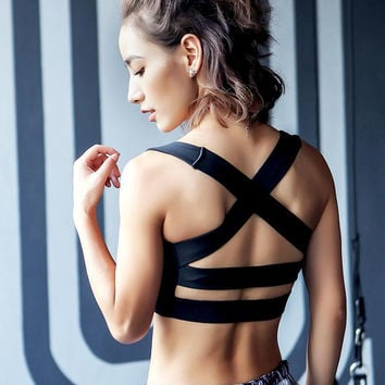 Beach Sexy Stylish Hot Summer Comfortable Bralette Sports Underwear Gym Backless Yoga Jogging Vest [10972797967]