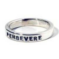 Jewelry for running, triathlon, working out & living strong - PERSEVERE Warrior Training Ring