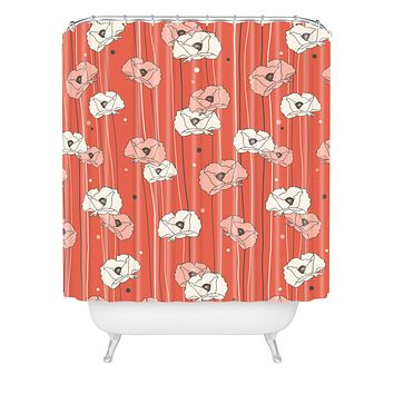Heather Dutton Red Poppy Field 1 Shower Curtain