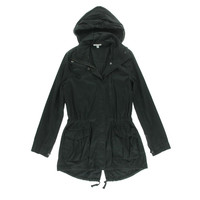 Standard James Perse Womens Hooded Long Sleeves Anorak Jacket