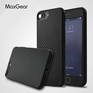 Thin Carbon Fiber Texture TPU Silicone Case for Apple iPhone 5 5S SE 6 6S 7 Plus Protection Back cover for iPhone 8 phone shell
