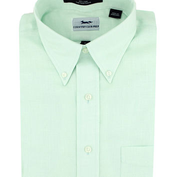 Linen Button Down in Mint by Country Club Prep