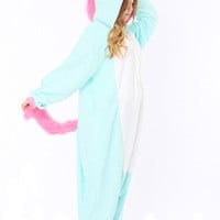 Unisex adult pink/blue Unicorn Onesuits