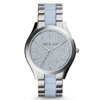 Slim Runway Silver-Tone Acetate Watch