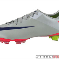 Nike Mercurial Miracle II FG - Granite with Solar Red - SoccerPro.com