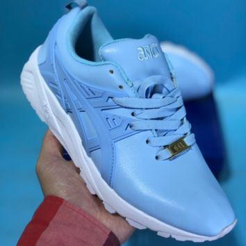 KUYOU Asics Gelkayno Leather Ratro Sport Sneaker Blue