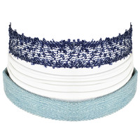 Blues Roots Choker Set In Denim