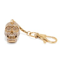 Gold Skull Key Chain