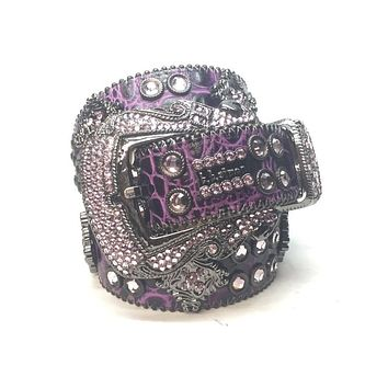 "B.B. Simon ""Purple Urkel"" Swarovski Crystal Belt"