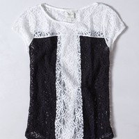 Lace Pane Top