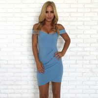 Baby Blues Bodycon Dress