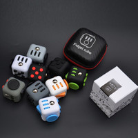 HOT Mini Fidget Cube 11 Colours Desk Finger Toy Stress Reliever Puzzle Magic Cube W/Box