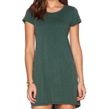 Cuba T Shirt Dress in Dark Green