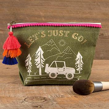 Let's Just Go! Canvas Pouch