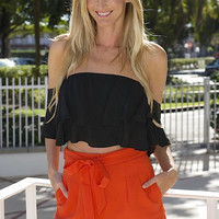 Mary Kelly Off Shoulder Top - Black