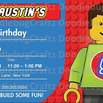 best lego movie birthday party invitation products on wanelo, Party invitations