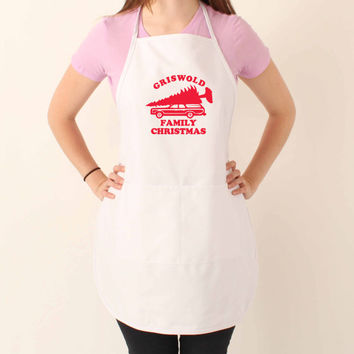 Griswold Family Christmas Funny Apron - Xmas Gift - Holiday Apron - Kitchen Present 503