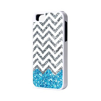 Blue Glitter iPhone 6 Plus 6 5S 5 5C 4 Rubber Case
