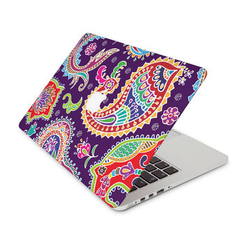 Multicolored Purple Paisley Background Skin for the Apple MacBook