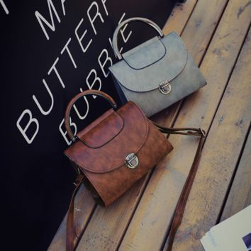Small Leather Vintage Style Crossbody Shoulder Hand Bag