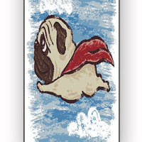 Flying Pug for iPhone 4/4S Case **