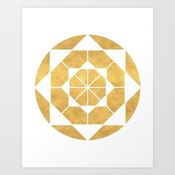 CIRCLES AND SQUARES sacred geometry Art Print by deificus Art