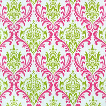 Premier Madison Chartreuse Candy Pink Fabric