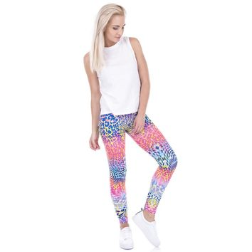 Rainbow Leopard Print Leggings