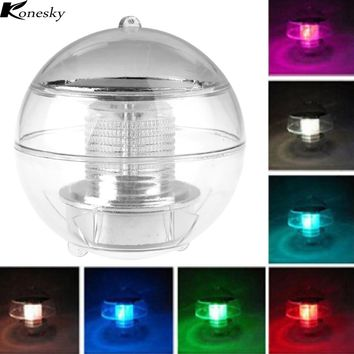 Solar Power LED Floating Night Light Multi Color Changing Waterproof Rechargeable Bulb Lamp for Pond Pool Garden Decorate