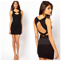 Sleeveless Cutout Mini Bodycon Dress