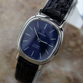 Classic 1990's Omega Lady Deville Quartz Dress Watch