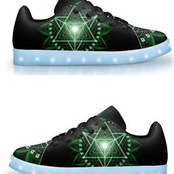 Anahata by Sam and Cate Farrand - APP Controlled Low Top LED Shoe